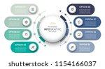 circular infographic design... | Shutterstock .eps vector #1154166037