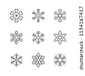 set line icons of snowflake | Shutterstock .eps vector #1154167417