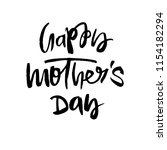 happy mothers day greeting card.... | Shutterstock . vector #1154182294