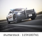 Police Car In Pursuit With Ful...