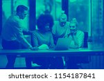 multiethnic startup business... | Shutterstock . vector #1154187841