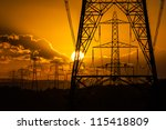 sun setting behind the... | Shutterstock . vector #115418809