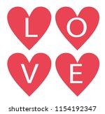 love heart design illustration... | Shutterstock .eps vector #1154192347
