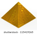pyramid golden   Shutterstock . vector #115419265