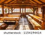 traditional slovakian wooden... | Shutterstock . vector #1154194414