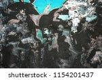 grunge textured abstract cyan... | Shutterstock . vector #1154201437