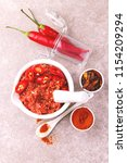 traditional maghrebi hot chili... | Shutterstock . vector #1154209294