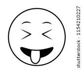 emoji crazy kawaii character... | Shutterstock .eps vector #1154210227