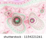 red and green fractal steampunk ... | Shutterstock . vector #1154221261