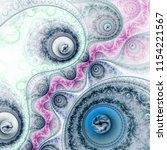 abstract fractal clockwork ... | Shutterstock . vector #1154221567