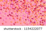 pink hearts falling on white... | Shutterstock .eps vector #1154222077