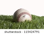 baseball on grass | Shutterstock . vector #115424791