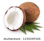 coconut isolated on white... | Shutterstock . vector #1154249104