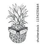 vector illustration  hand drawn ... | Shutterstock .eps vector #1154250664
