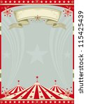 circus retro big top. a retro... | Shutterstock .eps vector #115425439