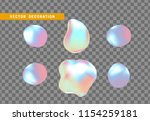 shape liquid drops with... | Shutterstock .eps vector #1154259181