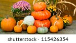 Fall Display Of Decorations...