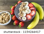 acai super food smoothie... | Shutterstock . vector #1154266417