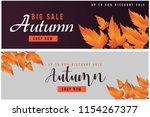 autumn sale text banners for... | Shutterstock .eps vector #1154267377