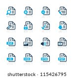 documents icons   1    azure... | Shutterstock .eps vector #115426795