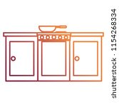 kitchen oven with drawers and...   Shutterstock .eps vector #1154268334