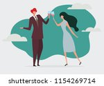 young passionate couple... | Shutterstock .eps vector #1154269714