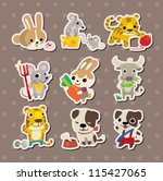 animal stickers | Shutterstock .eps vector #115427065