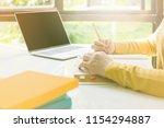 student university women... | Shutterstock . vector #1154294887
