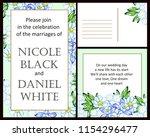 romantic wedding invitation... | Shutterstock .eps vector #1154296477