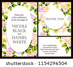 romantic wedding invitation... | Shutterstock .eps vector #1154296504