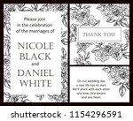 romantic wedding invitation... | Shutterstock .eps vector #1154296591