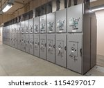electrical switch panel of... | Shutterstock . vector #1154297017