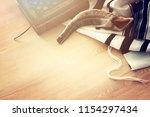 prayer shawl   tallit  prayer... | Shutterstock . vector #1154297434