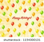 flying colored balloons.... | Shutterstock . vector #1154300131