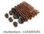 loose deep curly ombre black... | Shutterstock . vector #1154305291