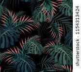 vector seamless tropical... | Shutterstock .eps vector #1154313424