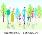 family three generation | Shutterstock .eps vector #115432264