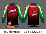 long sleeve motocross jerseys t ... | Shutterstock .eps vector #1154323264