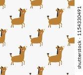 brown horse seamless pattern ... | Shutterstock .eps vector #1154330491