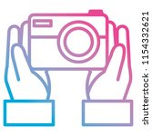 hand with camera photographic   Shutterstock .eps vector #1154332621