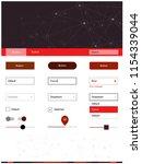 dark red vector ui kit in...