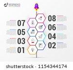 infographic design template....   Shutterstock .eps vector #1154344174