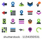 colored vector icon set   plane ... | Shutterstock .eps vector #1154350531