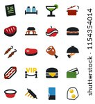 color and black flat icon set   ... | Shutterstock .eps vector #1154354014