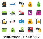 colored vector icon set  ... | Shutterstock .eps vector #1154354317