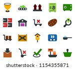 colored vector icon set  ... | Shutterstock .eps vector #1154355871