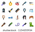 colored vector icon set  ... | Shutterstock .eps vector #1154355934