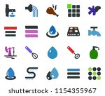 colored vector icon set   water ...