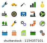 colored vector icon set  ... | Shutterstock .eps vector #1154357101