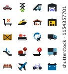 color and black flat icon set   ... | Shutterstock .eps vector #1154357701